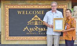 TÜV Zertifikat Ayodya Bali Resort