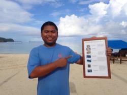 Gunter Borja erklärt die Riesenmuschelarten